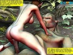 Redhead 3d elf chick with awesome boobs willingly - Picture 9
