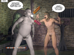 Blonde 3d gay taking off his clothes and fucking - Picture 11