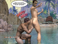 Well hung 3d dude gets his tight ass hole fucked by - Picture 11