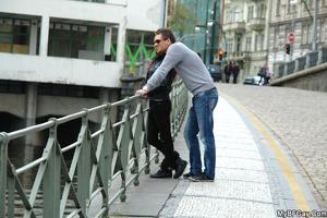 Lusty dude met his gay friend o nthe str - XXX Dessert - Picture 1