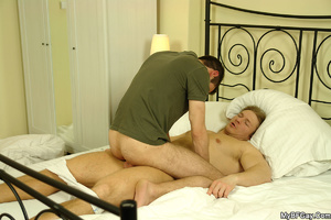 Blonde hunk in white panty gets undresse - XXX Dessert - Picture 11