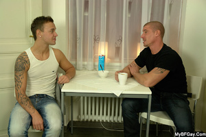 Ass sex hungry gay stud lets her friend  - XXX Dessert - Picture 1