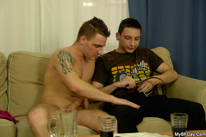 Sex starving gay hunk lets his friend pl - XXX Dessert - Picture 5