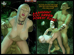 3d elf babe with perfect boobs gets - BDSM Art Collection - Pic 5