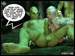 3d elf babe with perfect boobs gets - BDSM Art Collection - Pic 6