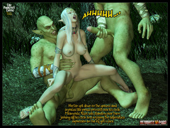 3d elf babe with perfect boobs gets - BDSM Art Collection - Pic 7