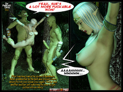 3d elf babe with perfect boobs gets - BDSM Art Collection - Pic 10