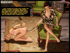 3d blonde slave girl forced to fullfill - BDSM Art Collection - Pic 7