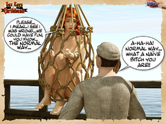 Captured by pirates redhead nude 3d - BDSM Art Collection - Pic 5