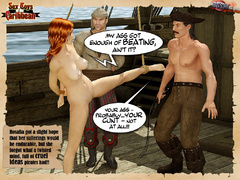 Captured by pirates redhead nude 3d - BDSM Art Collection - Pic 8