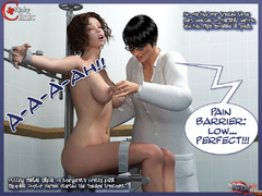 Tied eagle spread busty 3d chick gets - BDSM Art Collection - Pic 3