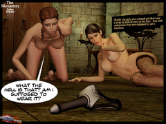 Two 3d naked babes in stay ups - BDSM Art Collection - Pic 6
