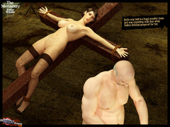 Two 3d naked babes in stay ups - BDSM Art Collection - Pic 8