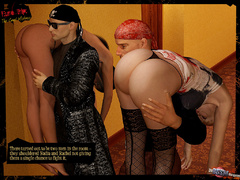 Beautiful blonde 3d chick in black stay - BDSM Art Collection - Pic 2
