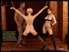 Beautiful blonde 3d chick in black stay - BDSM Art Collection - Pic 7