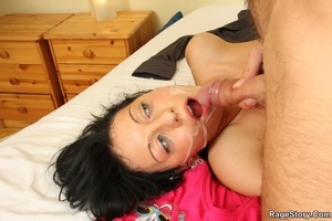 He shoots on her face after he aggressiv - XXX Dessert - Picture 31