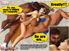 Xxx interracial 3d porn pics of petite body beauty - Picture 5