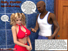 Two black 3d guys with huge dicks sedcued a pair of lovely blonde chicks