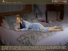 Blonde young 3d wife in sexy white stockings slowly - Picture 2