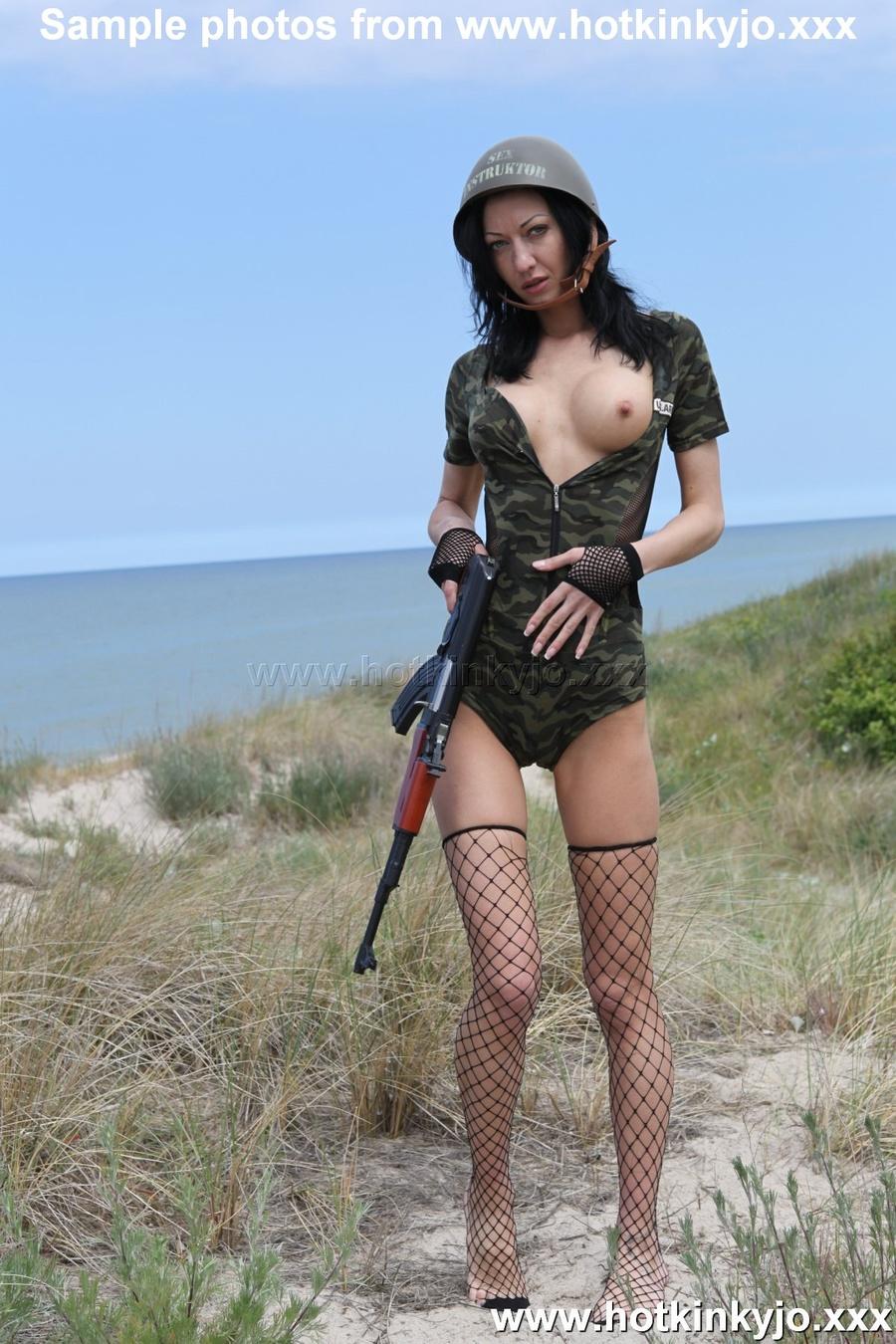 Perfect Boobs Dark Haired Girl In Military - Xxx Dessert -3050