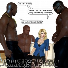 Blonde cartoon milfs can't stand their desire and - Picture 4