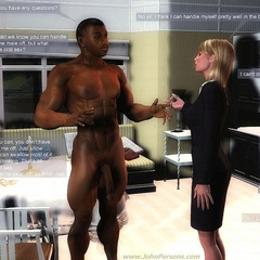 White 3d girl can't stand their strong desire and - Picture 2
