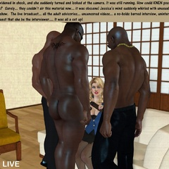 Black cum loving white 3d nymphs staying on their - Picture 2