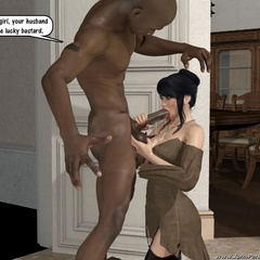 Black cum loving white 3d nymphs staying on their - Picture 3
