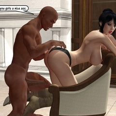 White 3d girls don't mind black cum load tasting - Picture 3