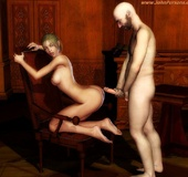 3d lusty beauties can't stop thinkinh about cum while sucking and fucking