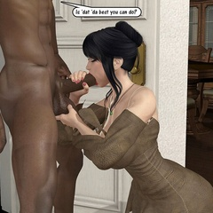 Black cum loving 3d white nymphs are feeling naughty - Picture 3