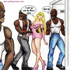 Naughty blonde cartoon wife gets butt fucked by black - Picture 4