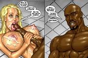 naked toon blonde sucking