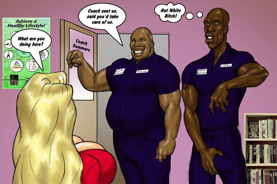 Slutty cheerleader sucks black cocks to help black coaches and jocks cool  off - CartoonTube.XXX