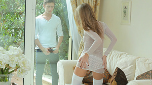 Dirty teen bitch n white stockings gets  - XXX Dessert - Picture 1