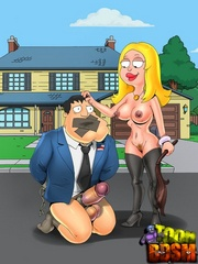 Blonde cartoon chick going wild and dominates tied up - Picture 3
