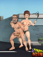 Real cartoon couple spice up their sexual life with - Picture 3