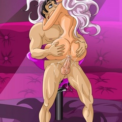 High heeled toon shemale strip dancer with yummy - Picture 3