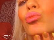 blonde bitch red lingerie
