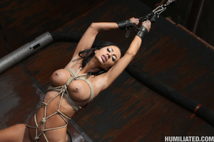 Gushing bondage whore fucked to wet gush - XXX Dessert - Picture 10