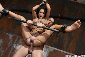 Gushing bondage whore fucked to wet gush - XXX Dessert - Picture 11