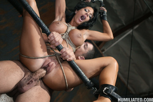 Gushing bondage whore fucked to wet gush - XXX Dessert - Picture 12