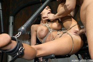 Gushing bondage whore fucked to wet gush - XXX Dessert - Picture 13