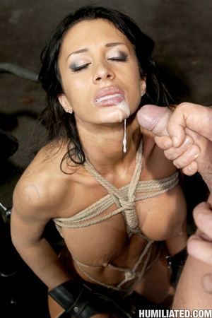 Gushing bondage whore fucked to wet gush - XXX Dessert - Picture 16
