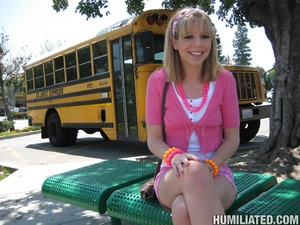 School chcik gets taped up and made to c - XXX Dessert - Picture 1