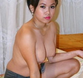 Was moving in rhythm with her plump Asian xxx body!