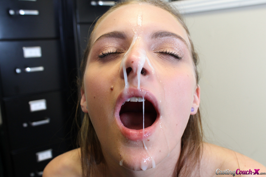 With cum covered girl