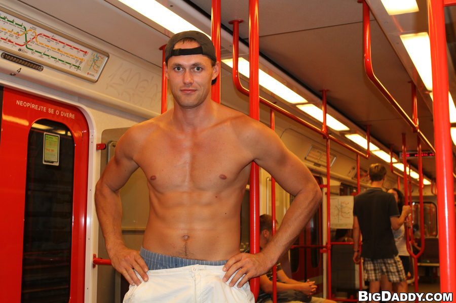 Gay pornstar subway #2