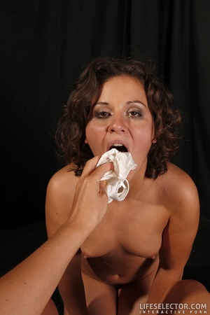 Brunette slave girl gets fucked by her s - XXX Dessert - Picture 17