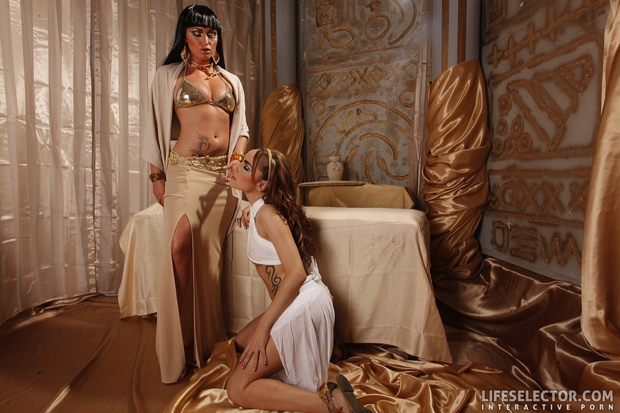 A Pair Of Lovely Chicks In Egyptian Outfits - Xxx Dessert -7671